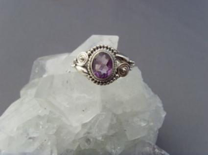 Amethyst - Ring filigrane Handarbeit 925er Silber