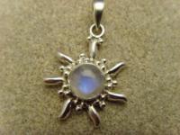 Inka Sonne 925 er Silber Mondstein