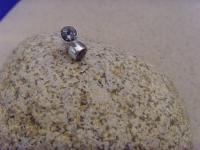 Aquamarin Ohrstecker - rund 925 er Silber