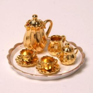 Bodo Hennig 27240 - Mokkaservice 2 Pers. gold für Puppenstube