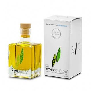 CRETANTHOS® 02031- Organic Olivenöl extra virgin EVOO (Geschenkverpackung) 100ml von Kreta