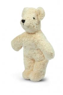 SENGER Y21906 - Tierpuppen-Baby Bär weiß 20cm, 100% Natur