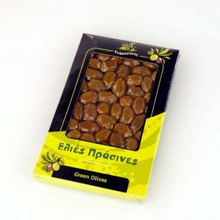 EFROSINI SPICES 600 - Grüne Oliven ganz Frucht 250g, vakuumverpackt , aus Chania Kreta