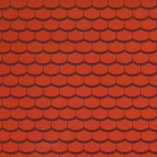 Bodo Hennig 26451 - Dachtapete (5 Bogen) für Puppenstube