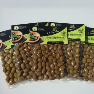 EFROSINI SPICES 510 - Grüne Oliven ganz Frucht 1250g, vakuumverpackt , aus Chania Kreta