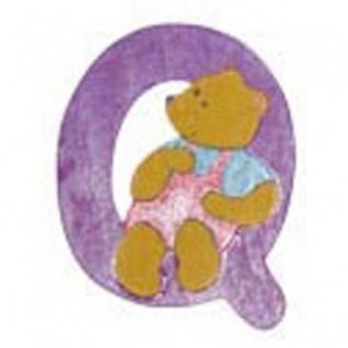 """Holz-Buchstabe """" Q"""" - Teddy, Türschild"""