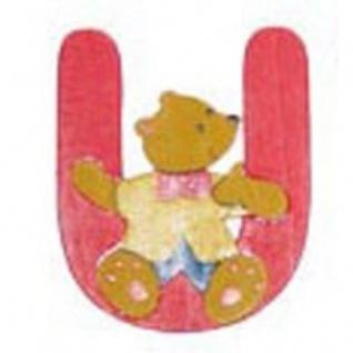"Holz-Buchstabe "" U"" - Teddy, Türschild"