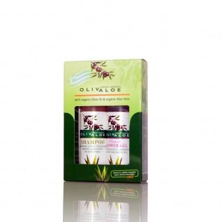 OLIVALOE 00255 - GESCHENKSET 2tlg., Shampoo 90ml + Shower Gel CLASSIC 90ml, Naturkosmetik