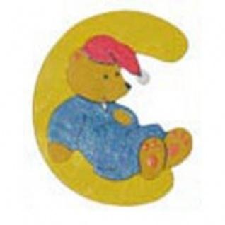 """Holz-Buchstabe """" C"""" - Teddy, Türschild"""