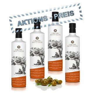 CRETAN MYTHOS 03013 - 4x 500ml Extra Natives Olivenöl 2L von Chania Kreta