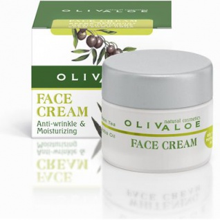 OLIVALOE 00144 - FACE CREAM (Oily to normal skin) - Gesichtscreme für normale bis ölige Haut 40ml, Naturkosmetik