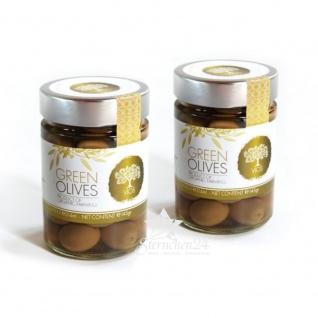 VIOS 05020 - 2x Grüne Oliven im Glas (=420g) von Kreta