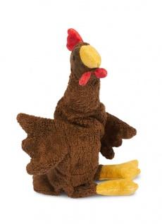 SENGER Y21023 - Kuscheltier Huhn klein braun, Wärme-/Kühlkissen