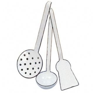 GLÜCKSKÄFER 530600 - 3-teiliges Küchenhelfer-Set aus Email, Kinderküche
