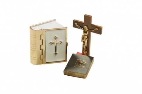 Bodo Hennig 27907 - Kruzifix + Bibel-Set für Puppenstube