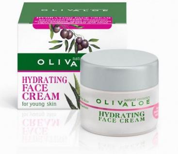 OLIVALOE 00107 - HYDRATING FACE CREAM (for young Skin) - Gesichtscreme für jugendliche Haut 40ml, Naturkosmetik