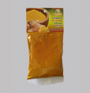 EFROSINI SPICES - Gewürz Kurkuma Pulver gemahlen 70gr. (wie Safran) Kreta, 100% Natur organic