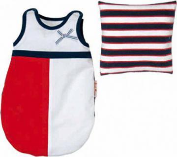 Käthe Kruse 36542 - Puppen Bekleidung - Schlafsack mit Kissen, 30-33 cm