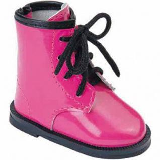 Käthe Kruse 33423 - Puppenschuhe Boots Lack pink für Stehpuppen
