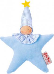 Käthe Kruse 74609 - Organic Greifling Stern hellblau