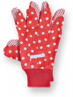 GLÜCKSKÄFER 535901 - Kinder-Gartenhandschuhe rot