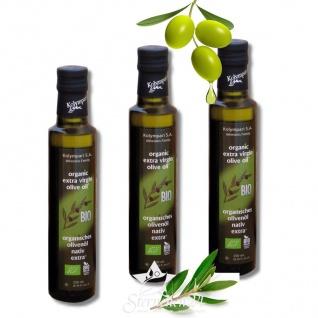 Ausgezeichnetes KOLYMPARI S.A. 04502 - 3 x 250ml Organic Extra Virgin Olivenöl (=750ml) MHD02/22