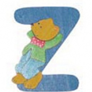 "Holz-Buchstabe "" Z"" - Teddy, Türschild"