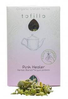 TOFILLO 10051 - Kräutertee-Mischung PINK HEALER, kretischer Salbei/rosa Steinrose 9g Organic