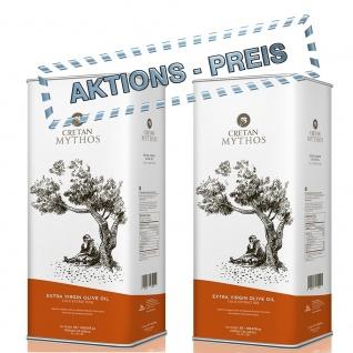 CRETAN MYTHOS 03038 - 2 Dosen a 5L Extra Natives Olivenöl 10Liter von Chania Kreta