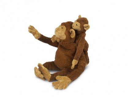 SENGER Y21030 - Kuscheltier Affe groß, Wärmekissen