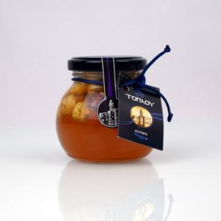 "SI-MEL SAVIDAKIS 12726 - "" Toplou"" Leonardo Honig, Thymianhonig mit ganzen Haselnüssen (Superfood) 250g von Kreta"