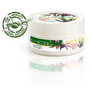 OLIVALOE 00168 - BODY BUTTER for dry & crackes skin - Körperbutter für trockene & rissige Haut 200ml, Naturkosmetik