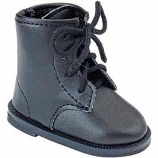 Käthe Kruse 33424 - Puppenschuhe Boots Lack schwarz für Stehpuppen