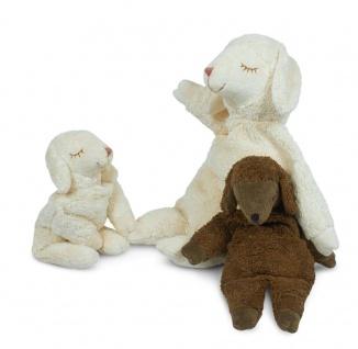 SENGER Y21006 - Kuscheltier Schaf klein weiß, Wärme-/Kühlkissen