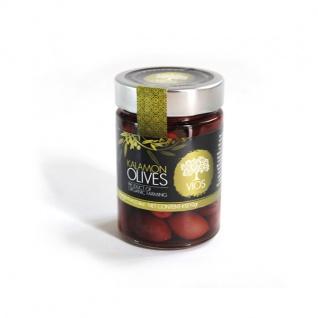 .VIOS 05010 Bio Kalamon Oliven im Glas (schwarze Oliven)