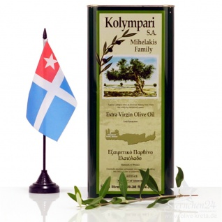 KOLYMPARI SA 04058 Natives Olivenöl Extra Familie Michelakis 5 Liter Dose, Kreta