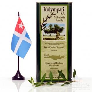 KOLYMPARI SA 04058 Natives Olivenöl Extra Familie Mihelakis 5 Liter Dose, Kreta