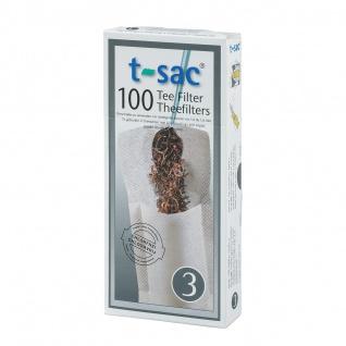Zubehör T-SAC 3 - Tee Filter aus ungebleichtes Papier für 1 - 1, 6 Liter