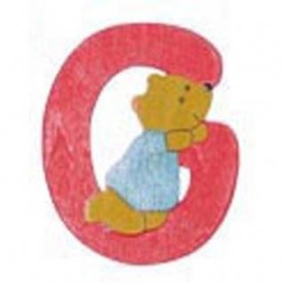 """Holz-Buchstabe """" G"""" - Teddy, Türschild"""