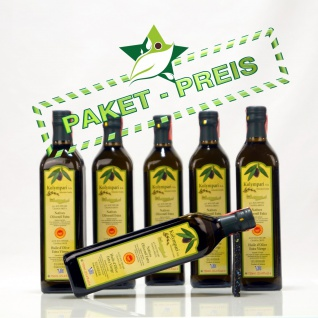6x KOLYMPARI PDO 04024 Natives Olivenöl Extra 4, 5 Liter (AKTION ! 6 Flaschen a 750 ml Kolymvari)
