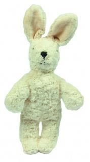 SENGER Y21903 - Tierpuppen-Baby Hase weiß 20cm, 100% Natur