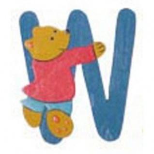 """Holz-Buchstabe """" W"""" - Teddy, Türschild"""