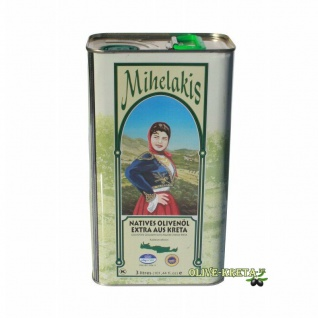 .MIHELAKIS KOLYMPARI 04067 Natives Olivenöl Extra 3, 0 Liter Dose