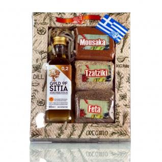 Geschenkset 13905 4tlg. Gewürz-Mix + Olivenöl 60ml EFROSINI SPICES von Kreta