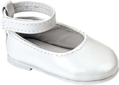 Käthe Kruse 33433 - Puppenschuhe Ballerinas weiß für Stehpuppen