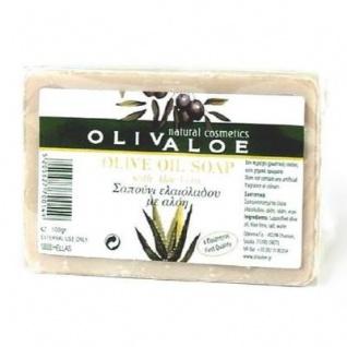 OLIVALOE 00200 - Handgemachte traditionelle Olivenölseife - Seife 100g, Naturkosmetik