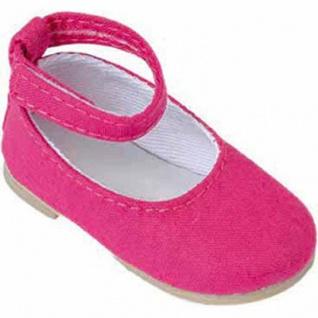 Käthe Kruse 33417 - Puppenschuhe Ballerinas pink Stoff für Stehpuppen Gr. 41