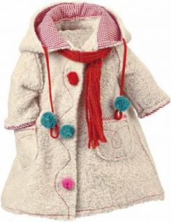 Käthe Kruse 54518 - Bekleidung für Puppe Lolle - Mantel grau mit Schal