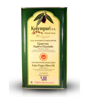 KOLYMPARI PDO 04037 Natives Olivenöl Extra 3 Liter Dose Kolymvari GU