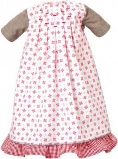 Käthe Kruse 54652 - Bekleidung für Puppe Lolle - Kleid weiß-rot mit Unterrock